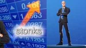 El icónico meme de Stonks llega a Fortnite