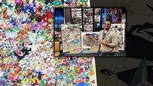 Fan crea un mural impresionante con 807 Pokémon