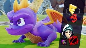 Zangado mostra o game Spyro, que ele próprio dublou