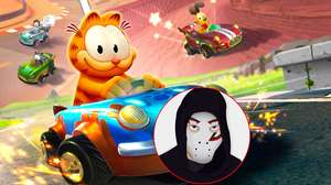 Zangado acelera fundo com Garfield Kart: Furious Racing
