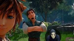 Zangado testa mundo de Enrolados com Rapunzel em Kingdom Hearts