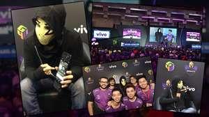 Zangado encontra fãs e experimenta Vivo G4U na BGS