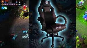 Cadeira especial para quem joga ou vê muito seriado na TV