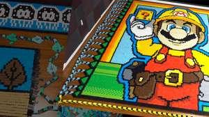 Mario em dominó gigante celebra Super Mario Maker 2