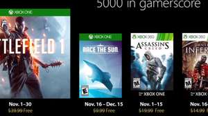 Revelados los juegos de Games with Gold de noviembre