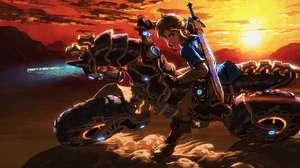 Sacaron la moto de Zelda del juego Mario Kart 8
